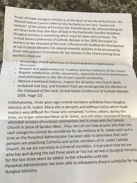 letter liturgy ministry